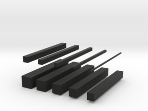 bars in Black Strong & Flexible