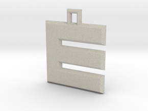 ABC Pendant - E/3 Type - Solid - 24x24x3 mm in Natural Sandstone