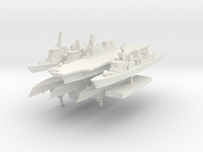 JMSF Fleet 2 1:3000 (8 ships) in White Natural Versatile Plastic