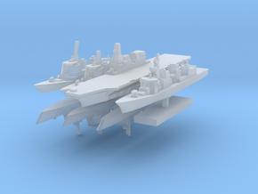 JMSF Fleet 2 1:6000 (8 ships) in Smooth Fine Detail Plastic