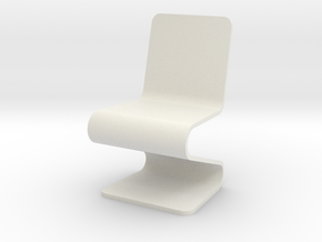 1:24 Acrylic Chair (Not Full Scale) in White Strong & Flexible