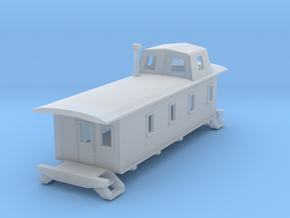 Caboose Burlington 3 in Smooth Fine Detail Plastic