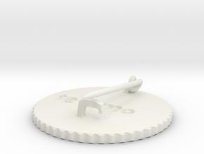 by kelecrea, engraved: te amo in White Strong & Flexible