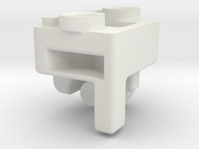 QuartetMountsLeft 111002 in White Natural Versatile Plastic
