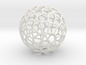 Alien Sphere Large (10cm) in White Strong & Flexible