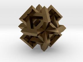 Cuboctahedron of Linked Frames in Natural Bronze