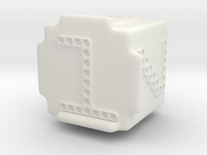 DigiDice in White Natural Versatile Plastic