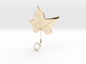 Ivy Leaf Necklace Ornament in 14K Yellow Gold