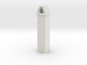 Brick Chimney 01 7mm scale in White Strong & Flexible