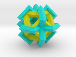 Cuboctahedron of Linked Frames in Full Color Sandstone