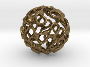 Gyroid Inversion Sphere in Natural Bronze