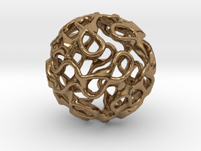 Gyroid Inversion Sphere in Natural Brass