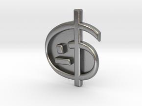 Zoran's Equation Pendant in Natural Silver