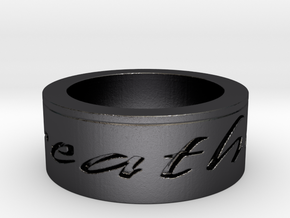 Breathe Ring Size 10 in Polished and Bronzed Black Steel