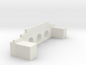Brick Culvert 01 HO scale in White Strong & Flexible