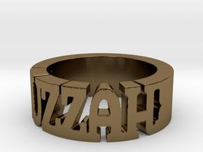 BlakOpal Huzzah Ring - Size 10.75 in Polished Bronze