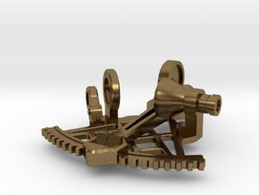 Sextant Pendant in Natural Bronze