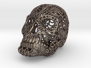 Nautilus Sugar Skull - SMALL in Polished Bronzed Silver Steel