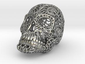 Nautilus Sugar Skull - SMALL in Natural Silver