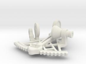 Sextant Pendant in White Natural Versatile Plastic