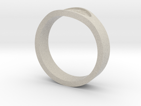 Keeper Ring in Natural Sandstone