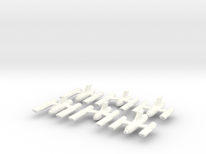 Ship Parts (variants) in White Processed Versatile Plastic