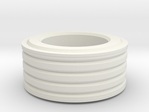Grooved Ring (large) in White Natural Versatile Plastic