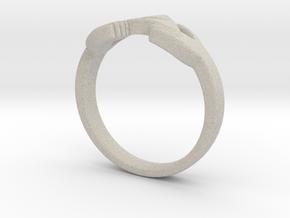 Triforce Zelda Ring Size German 18 in Natural Sandstone