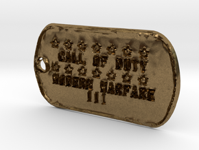 Call of Duty Modern Warfare 3 Dog Tag in Natural Bronze