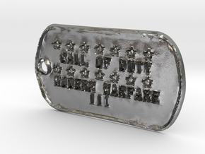 Call of Duty Modern Warfare 3 Dog Tag in Natural Silver