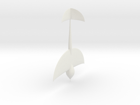 Wasp fins fowardwings in White Natural Versatile Plastic