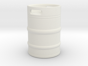 Oil cask in White Natural Versatile Plastic