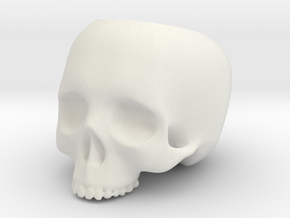 Skull Pot V2 - H60MM in White Strong & Flexible