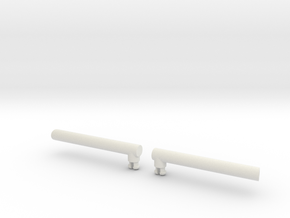 Optimus Leader Class Smoke Stacks in White Natural Versatile Plastic