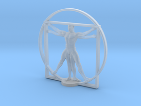 Vitruvian cyborg 2 inches tall in Frosted Ultra Detail