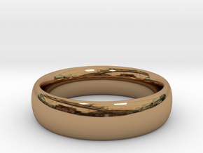 Unisex Ring 1 size 11 in Polished Brass