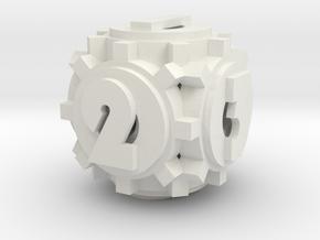 Gear Die in White Natural Versatile Plastic