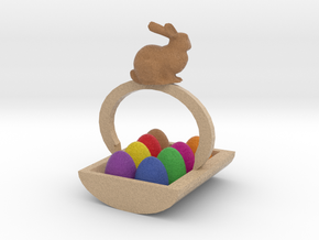 Easter Egg Basket in Full Color Sandstone