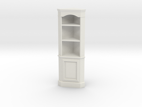 1:24 Corner Cabinet, Short in White Natural Versatile Plastic