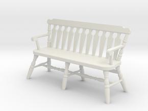 1:24 Deacon's Bench in White Strong & Flexible