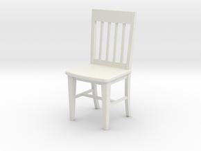 1:24 Slat Chair in White Natural Versatile Plastic