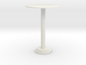 1:24 Bar Table, Tall in White Strong & Flexible