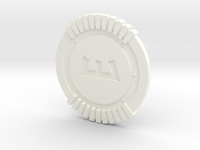 Enforcer Shield in White Processed Versatile Plastic