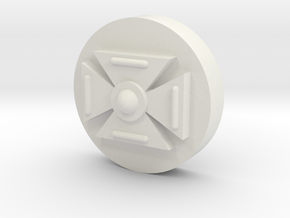 Symbol (10MM 3/8th Inch) in White Natural Versatile Plastic