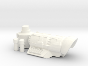 Frag Cannon in White Strong & Flexible Polished