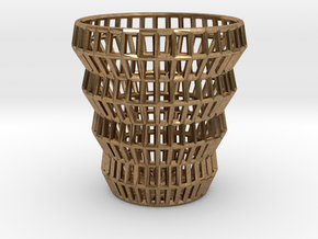 Wireframe Espresso Cup (Shell) in Natural Brass