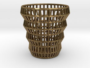 Wireframe Espresso Cup (Shell) in Natural Bronze