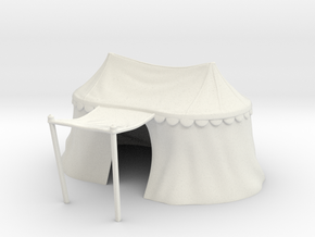 Medieval double tent for 25mm miniatures in White Natural Versatile Plastic