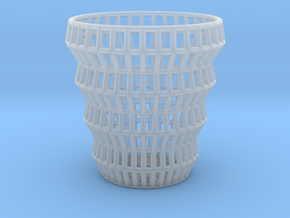 Wireframe Espresso Cup (Shell) in Smooth Fine Detail Plastic
