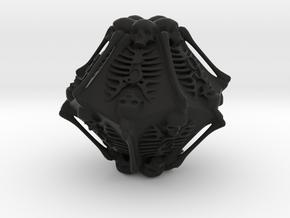 Skeleton D10 ( 10-sided die ) in Black Strong & Flexible